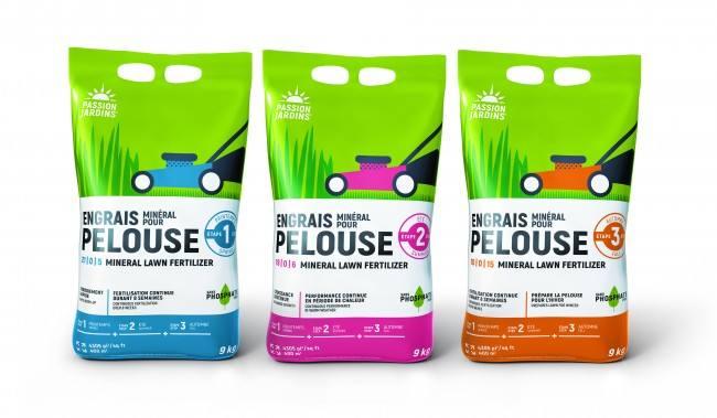 Photo du produit Programme de fertilisation pour pelouse en 3 étapes